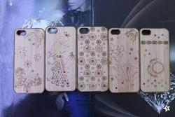 for iphone 5 case OEM deisgn pc diamond wooden case , custom case