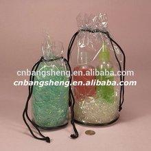 Vinyl drawstring toiletry bag from China Manufactory