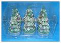 Baumform kerzen, kerzen in PVC-Box, billige dekorative kerzen