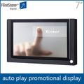 Picapiedra 7 pulgadas de señalización digital publicidad del jugador, Para la promoción de kiosco de pantalla táctil, Lcd publicidad tablero reproductor de medios