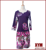 Plus size dresses digital printing clothes patched for autumn and winter