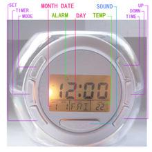 Digital Clock Strobe Light Alarm With Nature Music Snooze