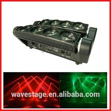 WLED 1-14 New 8 pcs 4 IN 1 RGBW (WHITE) 10W LED linear dmx moving bar led pixel super bright