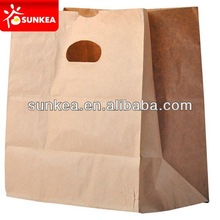 Vest handle kraft paper food carrying bag