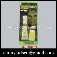 2014 PAVONINE hair glitter body cream makeup with 6p