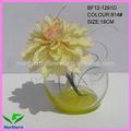 atacado artificial dália flores em vaso redondo