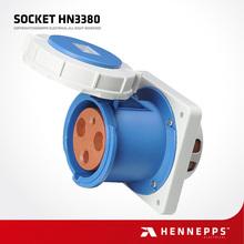 Hennepps IP66 3 pin Waterproof industrial socket outlet 230V 125A