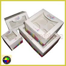 Windowed cupcake packaging,cupcake box