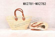 fashion natural corn straw beach bags