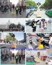 4 Aspects Two Modules LED flashing movable solar traffic light,solar led traffic siginal light;