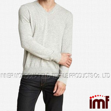 V Neck 100 Cashmere Sweaters Men Fashion