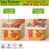 VacTainer 1.9 L vacuum sealed plastic storage container