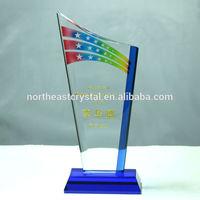 2015 New Name Engraving Star Crystal Award Wholesale