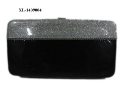 2014 black&silver wallet,ladies bag,fashion purse,thick wallet,cheap,trendy