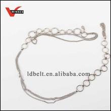 Fashion metal chain ladies belt