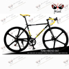 FIVE- SPOKE cool black aluminum alloy frame 700c 14speed road race bicycle