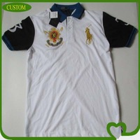 2014 wholesale design made embroidered logo short sleeve high quality polo shirt