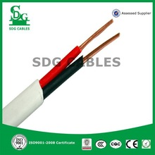 2014 SDG Hot Selling 2 core solid copper conductor BVVB cable