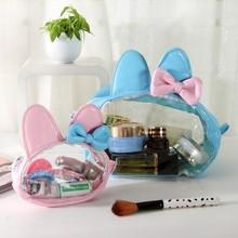 Lovely rabbit transparent waterproof wash bag (S)