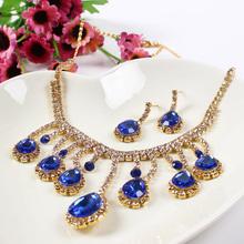 Wholesale New Crystal Indian Bridal Necklace Set