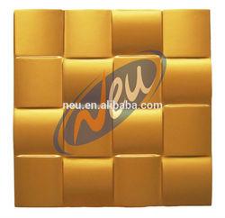 Polyurethane Energy Saving Wall Panel Luxury Gold Color