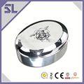 gracioso elipses padrão de flor de metal da jóia trinket caixa de presente de casamento caixa de jóias