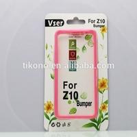 Fashion bumper cover for blackberry z10, 2 in 1skin for blackberry z10