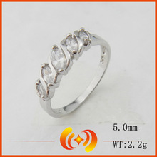 SR0045 wholesale factory fashion jewelry 925 silver crystal infinity ring