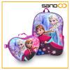 Customized elsa frozen school bag, frozen backpack and lunch bag set, anna elsa school bag frozen