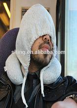 Hooded Memory Foam Travel U-Neck Pillow