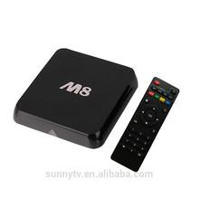 M8 Amlogic S802 2GHz 2G Ram 8G Rom Mali450 GPU Bluetooth 4.0 Quad Core M8 android 4.4 tv box