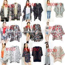2014 factory wholesale Vintage Retro Boho Hippie Casual Chiffon Kimono Top