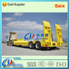 2014 Top sale 2 axles low bed semi truck trailer with hydraulic ramp (Lowboy trailer)