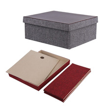 folding pu leather storage box