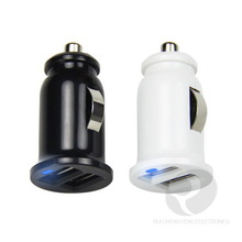 5V 2.1A dual usb car charger with gift box packing for international retail