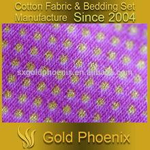 purple gold spot dot print 40S 133X72 100% cotton drill fabric