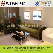 tessuto del sofà hot di lusso divano in tessuto verde
