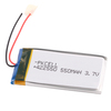 small ultra thin rechargeable 3.7v lithium polymer battery 550mah