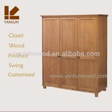 oak wood complete carcass swing bedroom wall wardrobe design