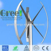easy installation,low wind speed 2KW Vertical Wind Generator