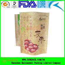 kraft paper snack food packaging bag