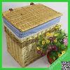 Wholesale s/3 handmade willow laundry hamper /weave willow laundry basket hamper
