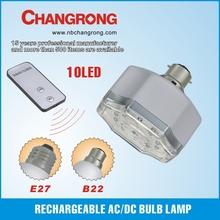 plastic emergency rechargeable AC/DC led bulb lamp