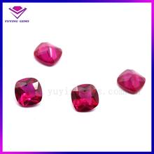 Wholesale Square Shape Precious Gemstone Corundum Filled Ruby Price