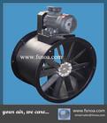 ABE adjustable aluminum blades imported impeller belt driven external motor axial flow fan