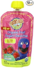 Spout Pouch for Organic Fruit Yogurt Smoothie, Mixed Berry