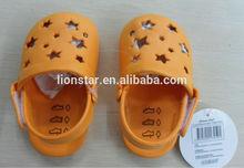 2014 fashion design nude new born baby eva clog shoes