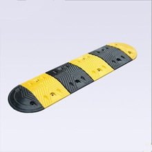 durable reflective rubber speed hump, road safety products rubber speed bump, high strength rubber speed bump