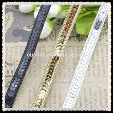 wholesale new style sequin ribbon flowers lace trim of decorative trim