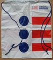 personalizado plástico mochila drawstring